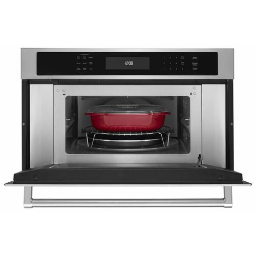 """KitchenAid - 30"""" Built In Microwave Oven with Convection Cooking - Stainless Steel"""