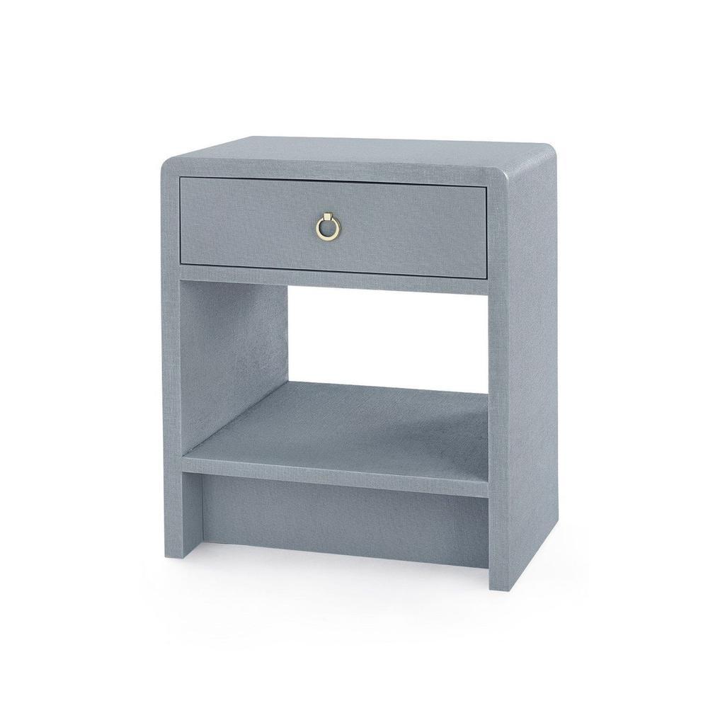 See Details - Benjamin 1-Drawer Side Table, Gray