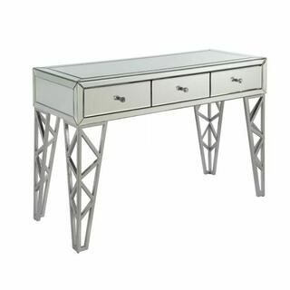 ACME Stephen Console Table - 90057 - Mirrored & Chrome