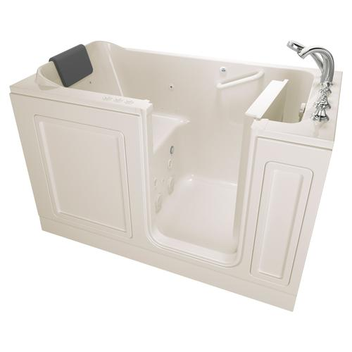 American Standard - Acrylic Luxury Series 32x60 Combination Massage Walk-in Tub with Tub Filler, Right Drain  American Standard - Linen
