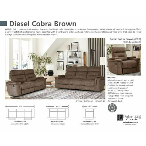 Gallery - DIESEL - COBRA BROWN Manual Reclining Collection