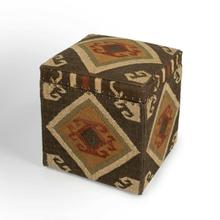 This Southwestern-inspired Jute storage cube will stylishly enhance your space. Featuring a Mountain Lodge design aesthetic, it is hand crafted from select wood solids, 20% wool, 80% jute. It is a fantastic choice for all those who are looking for functionality and utility value for storage and style.