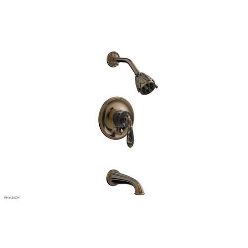 VALENCIA Pressure Balance Tub and Shower Set PB2338C - Antique Brass
