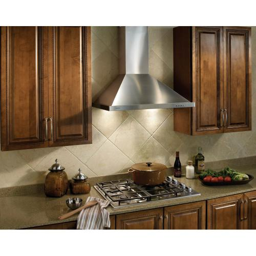 Broan® 36-Inch European Style Wall-Mount Chimney Range Hood, 450 CFM, Stainless Steel