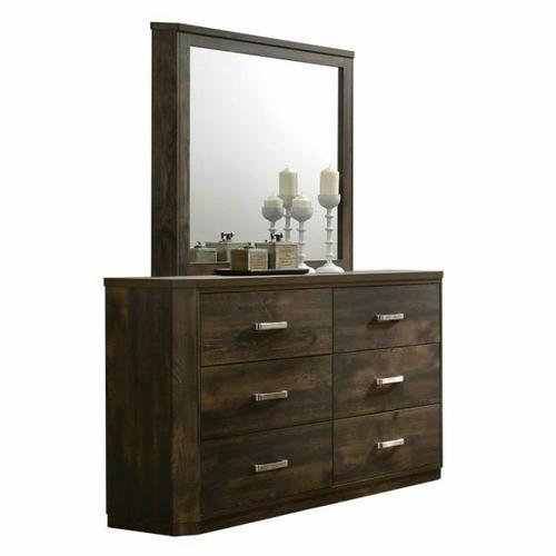 ACME Elettra Mirror - 24854 - Rustic Walnut