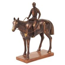 View Product - Bronze Jockey and Racehorse Sculpture
