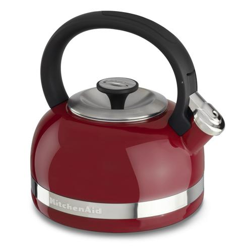 Gallery - 2.0-Quart Kettle with Full Handle and Trim Band Empire Red