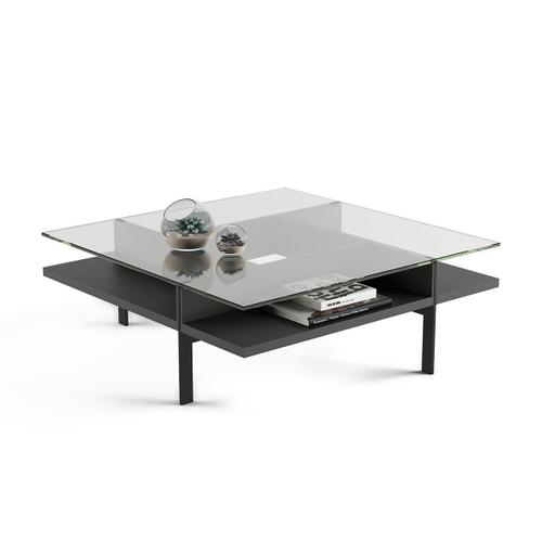 Square Coffee Table in Charcoal Stained Ash