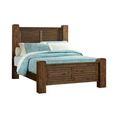 Sutter Creek Rustic Vintage Bourbon Queen Bed