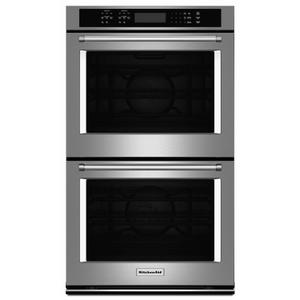 """KitchenAid27"""" Double Wall Oven with Even-Heat™ True Convection - Stainless Steel"""