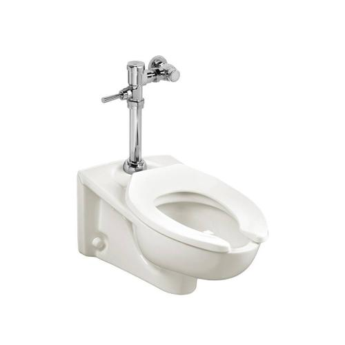 American Standard - 1.1 GPF Afwall System with EverClean & Manual Flush Valve - White