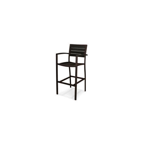Polywood Furnishings - Eurou2122 Bar Arm Chair in Textured Bronze / Black