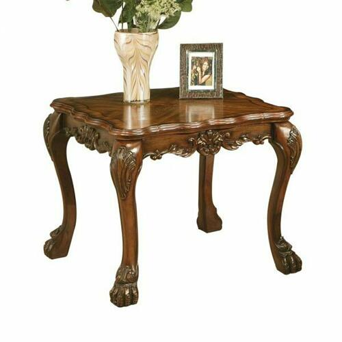 ACME Dresden End Table - 12166 - Cherry Oak
