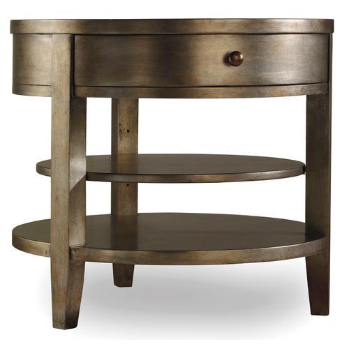 Hooker Furniture - Sanctuary One-Drawer Round Lamp Table - Visage