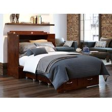 View Product - Southampton Murphy Bed Chest Twin Extra Long Walnut with Charging Station