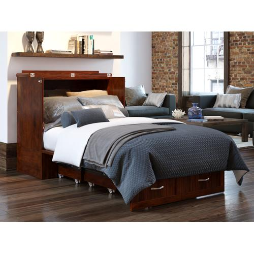 Atlantic Furniture - Southampton Murphy Bed Chest Twin Extra Long Walnut with Charging Station