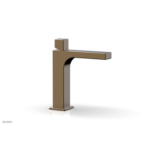 MIX Single Hole Lavatory Faucet, Cube Handle 290-08 - Antique Brass