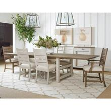 """Portico 78"""" Rectangular Dining Table - Shell"""