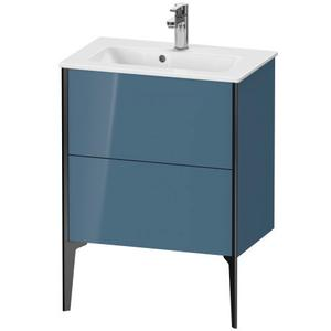 Vanity Unit Floorstanding Compact, Stone Blue High Gloss (lacquer)
