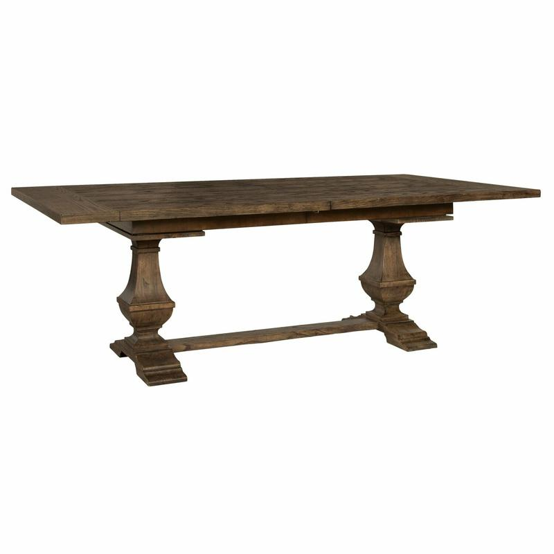 2-4820 Wexford Slab Top Trestle Dining Table