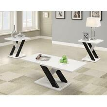 See Details - Contemporary White Three-piece Table Set