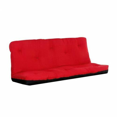 "ACME Nabila Full Futon Mattress - 02806 - 6""H - Red & Black"
