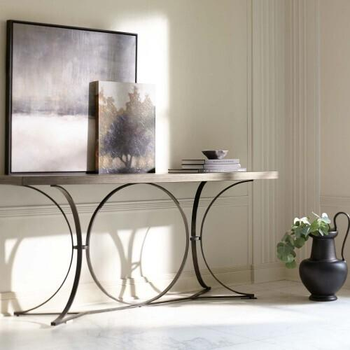 Gallery - Canyon Ridge Metal Console Table in Desert Taupe (397)