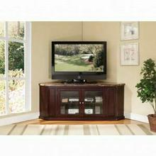 """ACME Nevin Corner TV Stand - 91055 - Faux Marble & Espresso for Flat Screens TVs up to 60"""""""