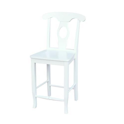 John Thomas Furniture - 24'' Empire Stool in Pure White