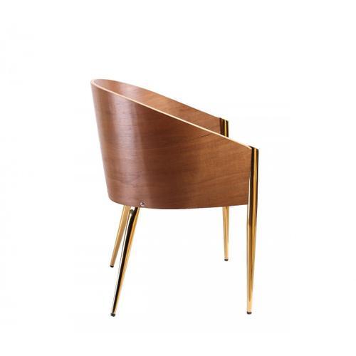 VIG Furniture - Modrest Claret - Modern Walnut & Black Leatherette Accent Chair
