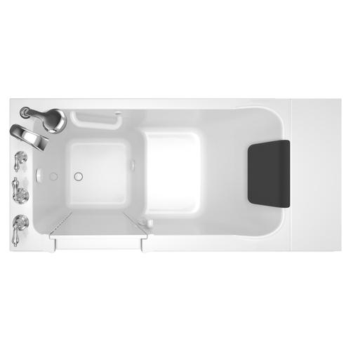 Acrylic Luxury Series Left Drain 28x48 Walk-in Bathtub with Tub Faucet  American Standard - White
