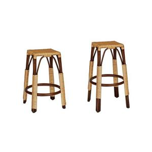 Progressive Furniture - Counter Stool - Chocolate/Natural Finish
