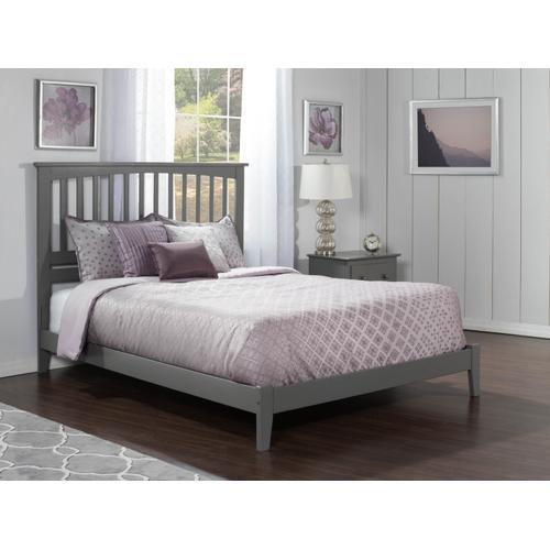Atlantic Furniture - Mission King Bed in Atlantic Grey