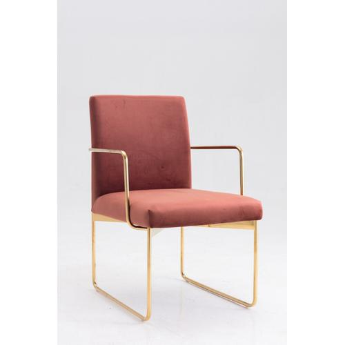 Gallery - Modrest Thelen Modern Copper Fabric & Gold Dining Chair