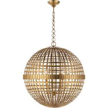 View Product - AERIN Mill 6 Light 30 inch Gild Globe Lantern Ceiling Light, Large
