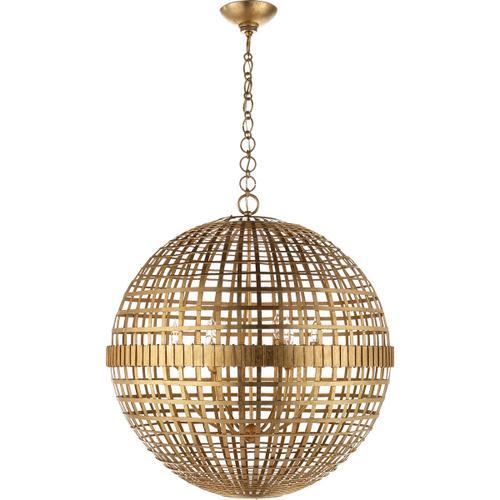 AERIN Mill 6 Light 30 inch Gild Globe Lantern Ceiling Light, Large