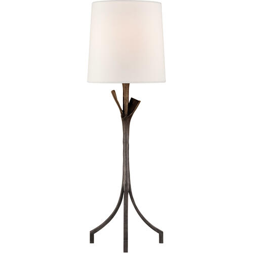AERIN Fliana 28 inch 100 watt Aged Iron Table Lamp Portable Light
