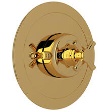 Holborn Thermostatic Trim Plate without Volume Control - English Gold with Cross Handle