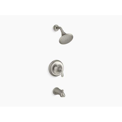 Kohler - Vibrant Brushed Nickel Rite-temp Bath and Shower Trim With Slip-fit Spout and 1.75 Gpm Showerhead