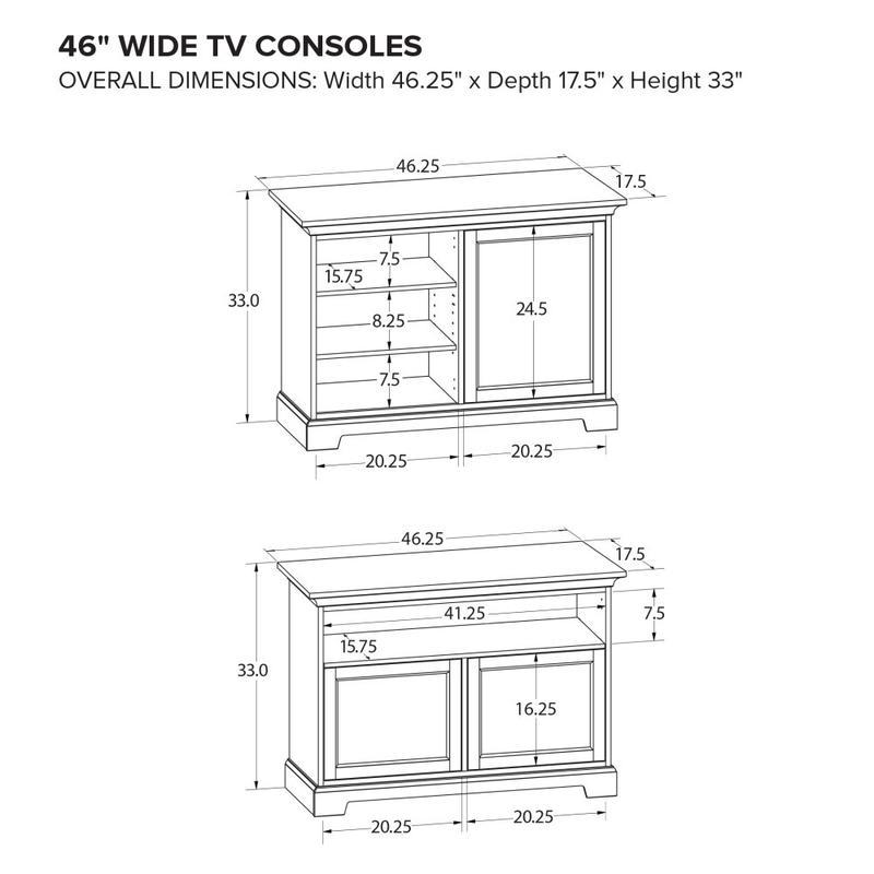 Howard Miller Custom TV Console TS46B