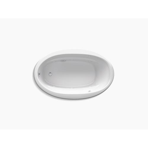 "White 66"" X 42"" Drop-in Whirlpool Bath With Bask Heated Surface"