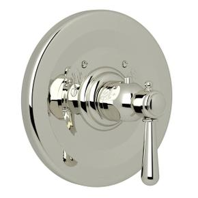 Verona Thermostatic Trim Plate without Volume Control - Polished Nickel with Metal Lever Handle