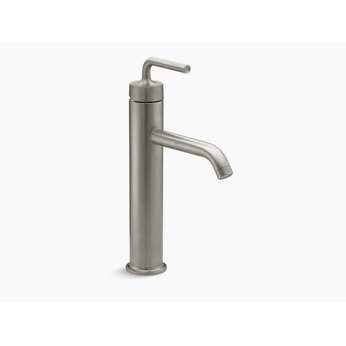 Vibrant Brushed Nickel Single-handle Bathroom Sink Faucet With Straight Lever Handle