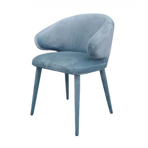VIG Furniture - Modrest Salem - Modern Blue Grey Fabric Dining Chair