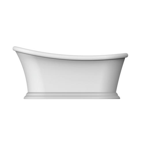 "Mallory 68"" Acrylic Slipper Tub with Integrated Drain and Overflow - Oil Rubbed Bronze Drain and Overflow"