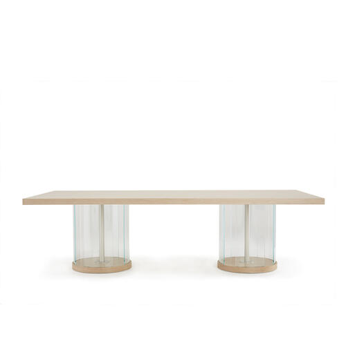 Rectangular Double Pedestal Dining Table (3 Pc)