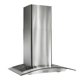 Broan® 30-Inch Arched Glass Wall-Mount Chimney Range Hood, 450 CFM, Stainless Steel