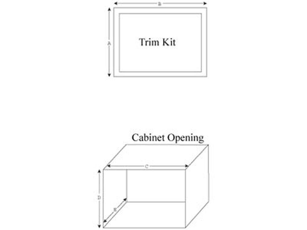 """Panasonic27"""" Trim Kit For Select Microwaves"""