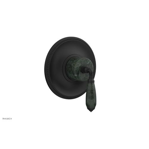 Phylrich - VALENCIA - Thermostatic Shower Trim, Green Marble Lever Handle TH338F - Matte Black