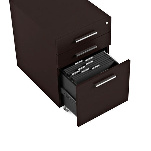 Low Mobile File Pedestal 6007 2 in Espresso